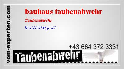 bauhaus taubenabwehr vogelabwehr vom. Black Bedroom Furniture Sets. Home Design Ideas
